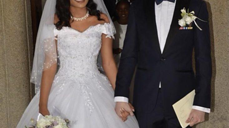 Fint prinsesse brudekjole