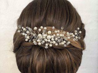 Smukkeste hårsmykke med perler