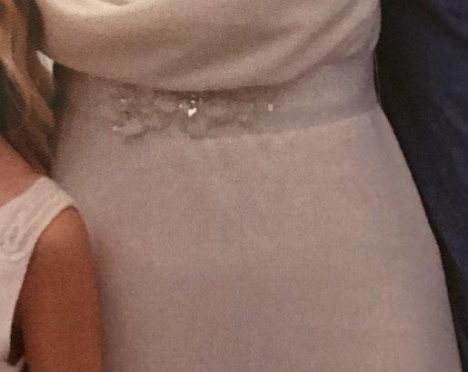 Brudekjole med vandfald