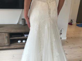 Smuk brudekjole aldrig brugt
