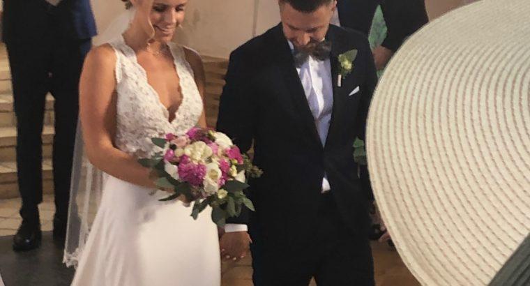 Brudekjole i to dele