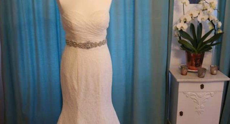 Ubrugt brudekjole til salg