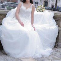 Brudekjole med slør