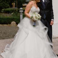 Smuk prinsessekjole, renset og klar til næste bryllup!
